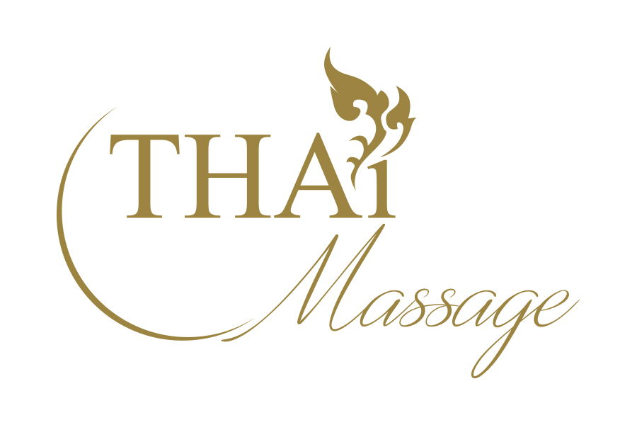 Thai Massage logo ผลงานออกแบบโลโก้ ร้านนวดแผนไทย