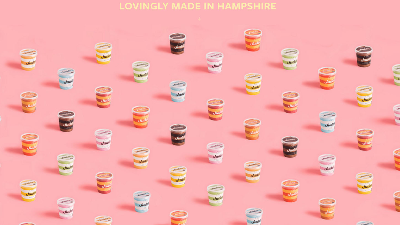 ตัวอย่างงานออกแบบเว็บไซต์อาหารที่น่าสนใจ www.judes.co.uk