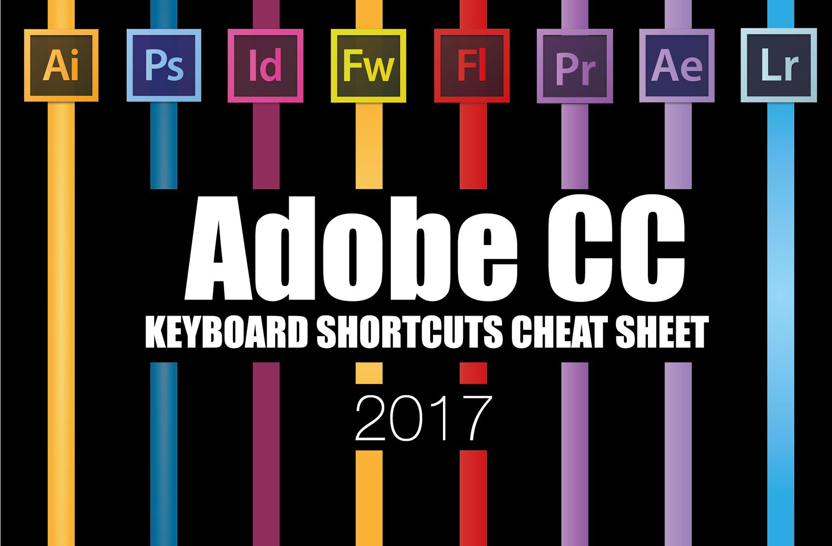สรุปคีย์ลัด (Keyboard Shortcut) Adobe Creative Cloud 2017 ทุกโปรแกรม!