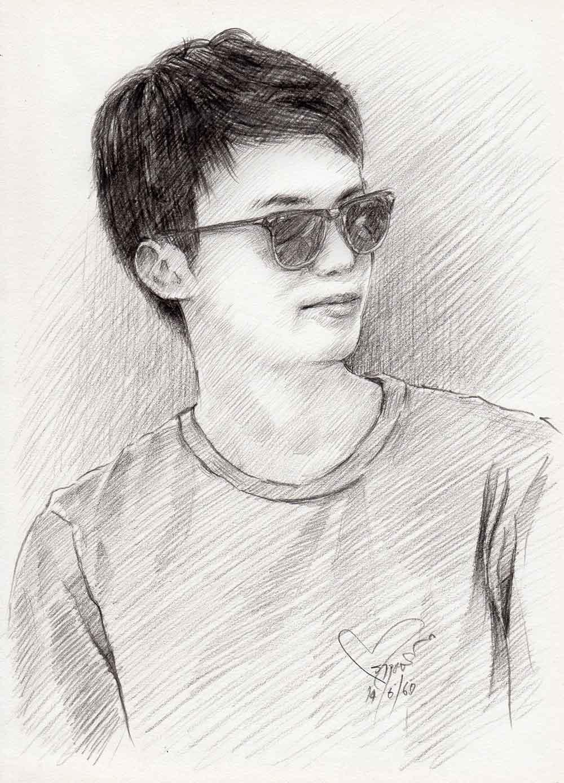 วาดภาพเหมือน-ภาพเหมือนผู้ชาย-Portrait-Drawing-Pencil