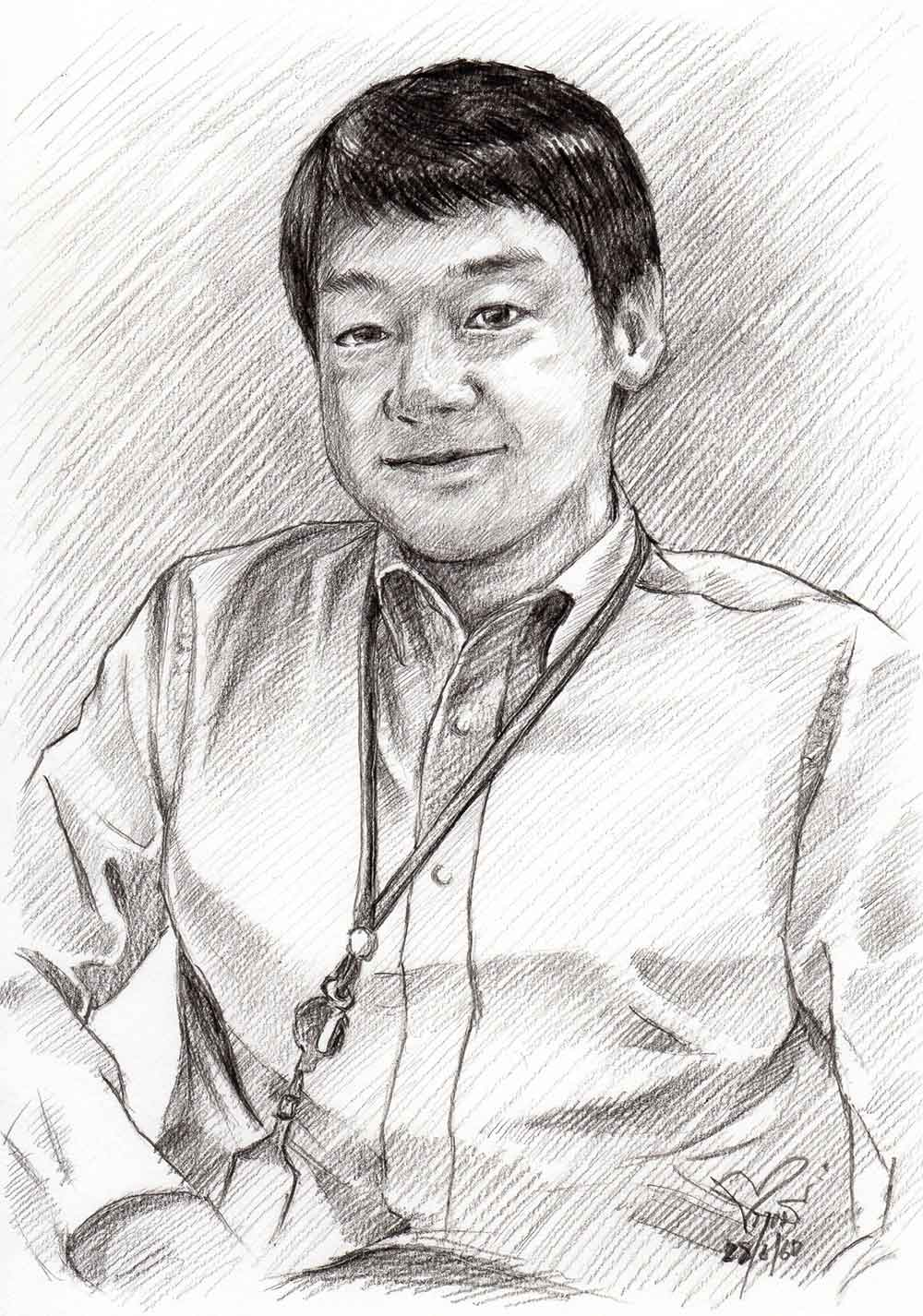 Drawing-Portrait-วาดภาพเหมือน-วาดภาพลายเส้น-วาดเส้นดรออิ้งผู้ชาย