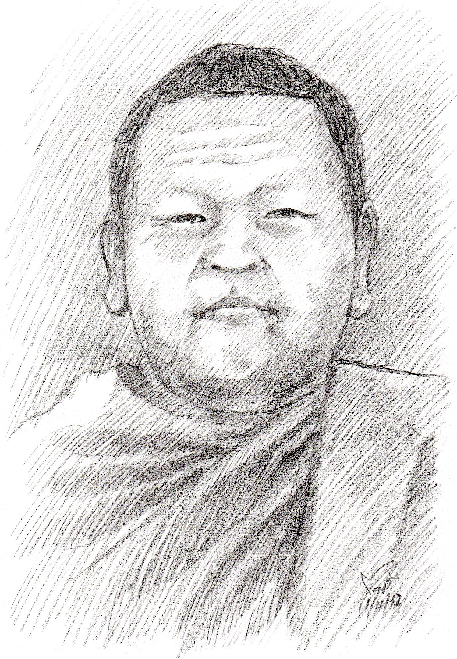 Drawing Portrait วาดภาพเหมือนพระภิกษุสงฆ์