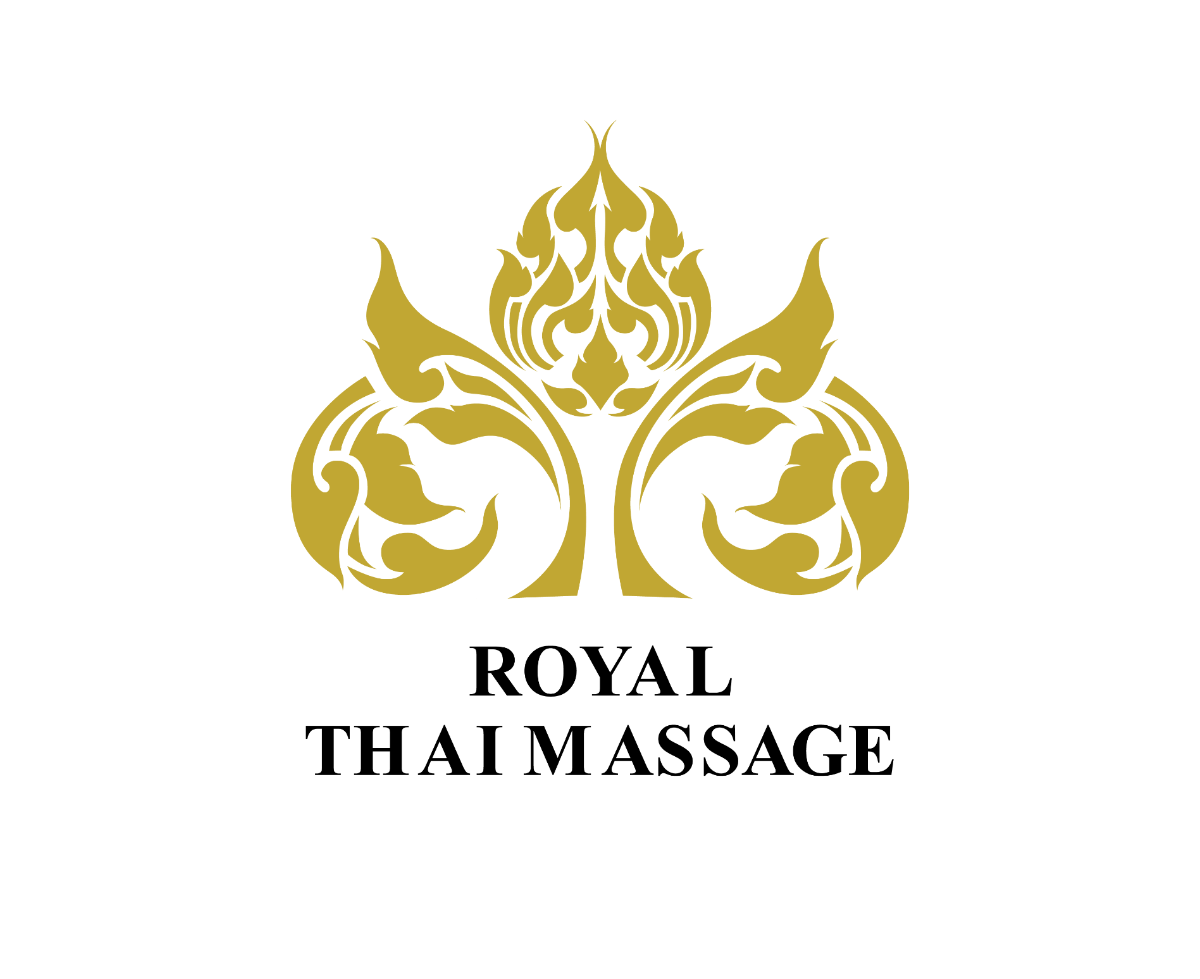 Royal thai massage LOGO ออกแบบโลโก้ ออกแบบโลโก้นวดแผนไทย ผลงานออกแบบโลโก้ สไตล์ไทย ๆ ออกแบบโลโก้ร้านค้านวดแผนไทย